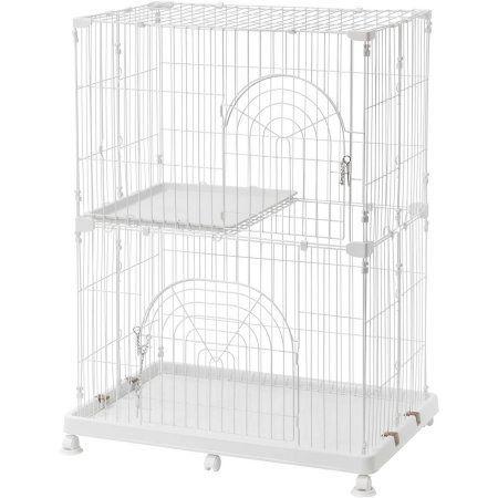 Iris 3-Tier Wire Pet Cage, White