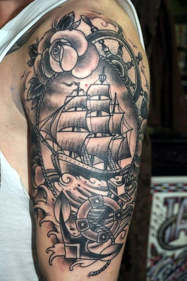 Meaningful Boat Tattoo Designs