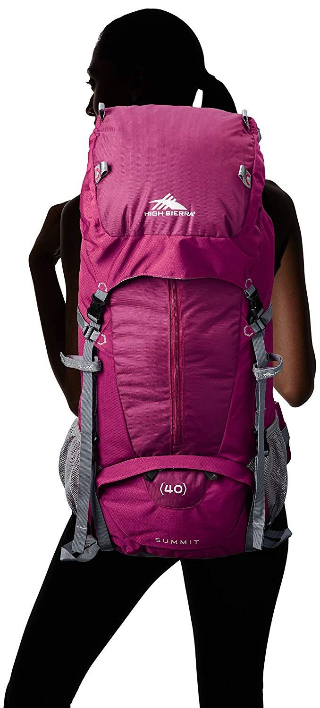 7b79961c035 Boysenberry Pink  amp  Gray, High Sierra Women s Summit 40L Top Load  Backpack, High