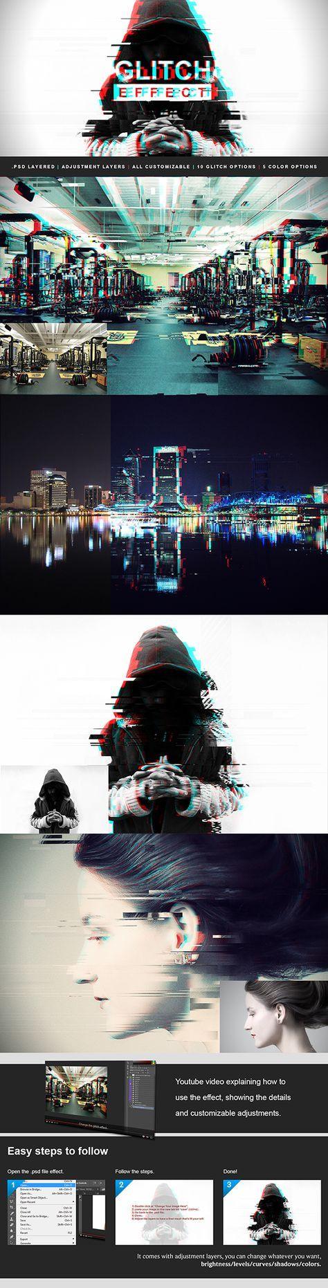 Glitch Effect Download this amazing photo effect at: https://graphicriver.net/item/glitch-effect/17054567?ref=KlitVogli