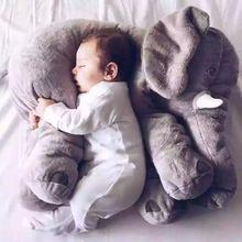 Decoración Del hogar Precioso Elefante De Peluche Gris Corto Cómodo Lumbar Cusion Asiento Throw Pillow Sofá Cama para el Automóvil forros Cojines muñecos de Juguete(China)