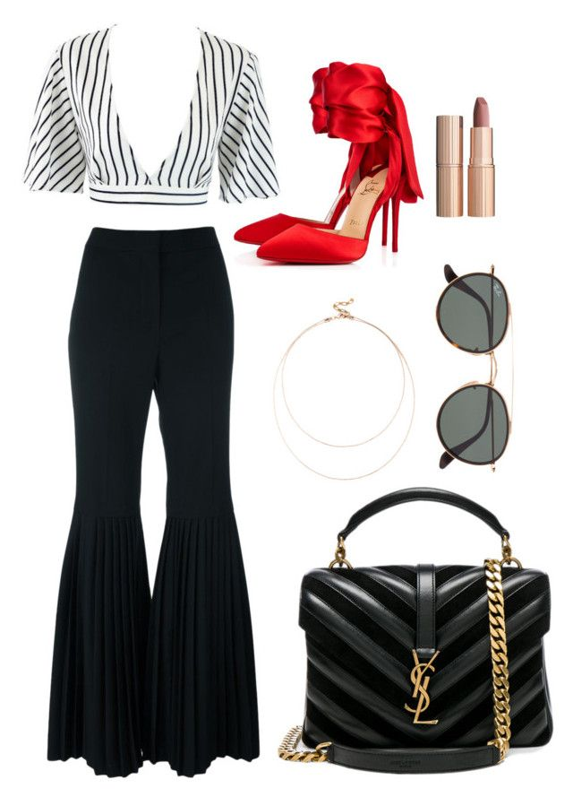 """""""Day 37"""" by deborahannah on Polyvore featuring STELLA McCARTNEY, Christian Louboutin, Yves Saint Laurent, Sole Society, Charlotte Tilbury and Ray-Ban"""