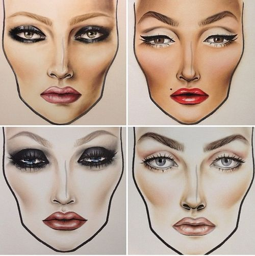 fierce -- wish i was this good at face charts