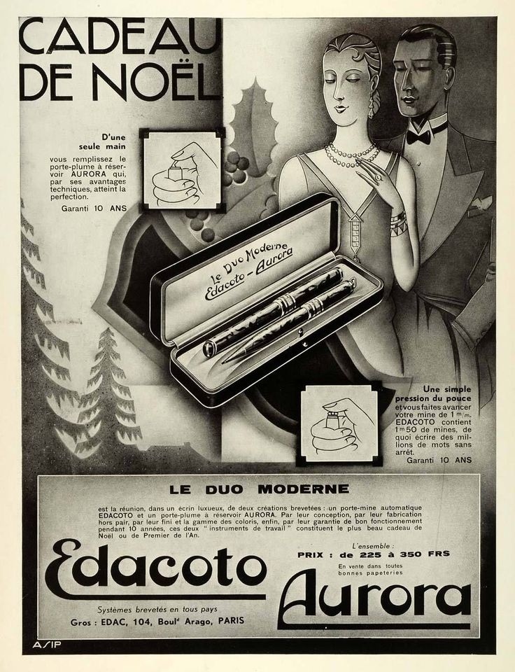 Ministry of Plenty: Edacoto-Aurora fountain pen and mechanical pencil set, France, 1931