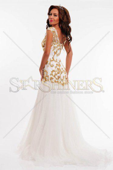 Rochie Sherri Hill 2981 White