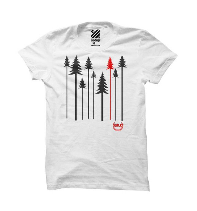 Setup® Forest Womens Tee in White £18.00