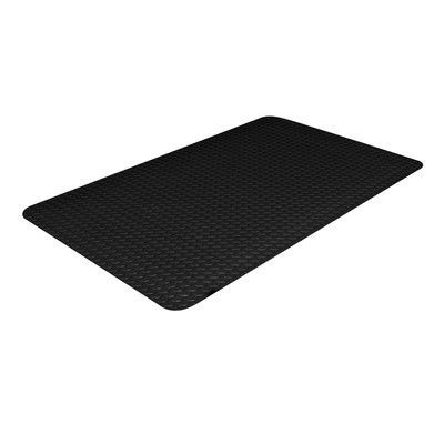 "Crown Matting Industrial Doormat Color: Black, Size: 24"" x 36"""
