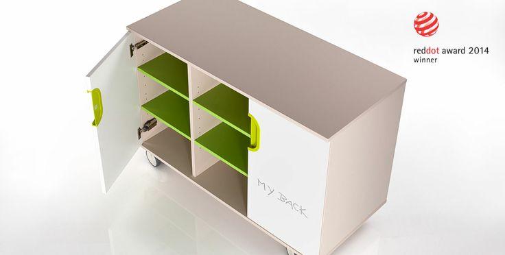 Childern furniture Fantasy, mobile cabinets - Red dot award 2014 winner