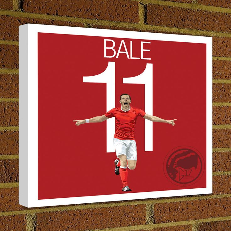 Square Canvas Wrap Soccer Art Print Gareth Bale Canvas Print - Wales Soccer Poster wall decor home decor, Bale poster by Graphics17 on Etsy