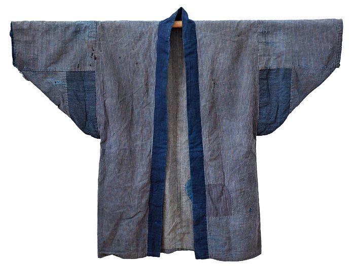 Atelier de l'Armée 2013 Spring Japanese Farmer Worker Jacket - Mens Vintage Outerwear Kimono Handspun Indigo - Made in Denim Finds #MadeInDenim #DenimFinds: Accessories, Headgear, Footwear, Shoes, Bags, Toys and Products Made in Denim, Quirky & Cool Finds, Denim Outerwear (coats, parkas, capes, jackets, vests and more)