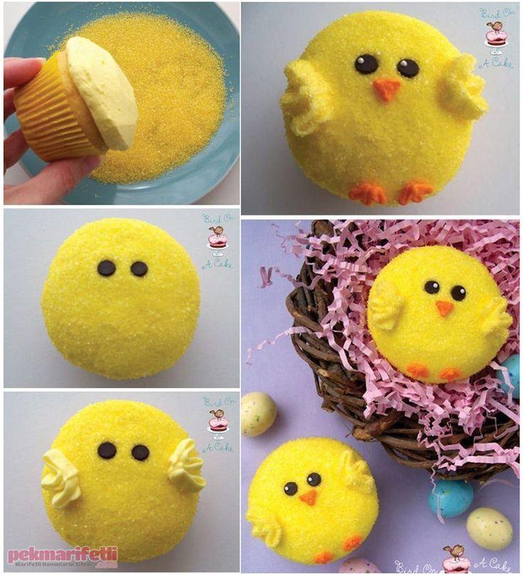 Minik civciv cupcake yapımı | Mutfak | Pek Marifetli!
