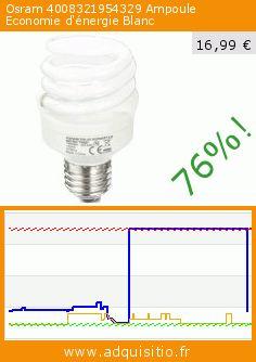Osram 4008321954329 Ampoule Economie d'énergie Blanc (Cuisine). Réduction de 76%! Prix actuel 16,99 €, l'ancien prix était de 69,72 €. https://www.adquisitio.fr/osram/4008321954329-ampoule