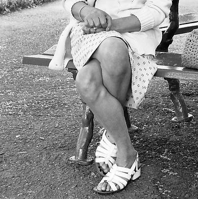 David Goldblatt: Particulars Woman on a bench, Joubert Park, Johannesburg, 1975 Image