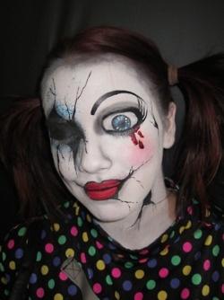 35 best Halloween images on Pinterest   Cracked doll makeup ...