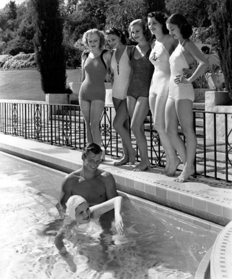swim lesson with buster crabbe