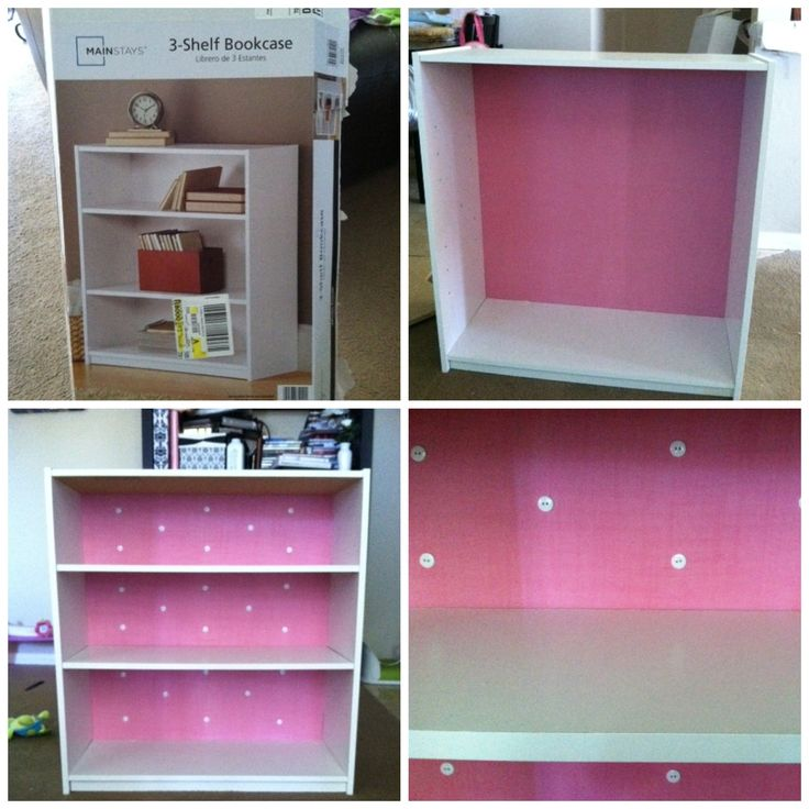 bought a 17 simple white bookshelf from walmart for lilly. Black Bedroom Furniture Sets. Home Design Ideas