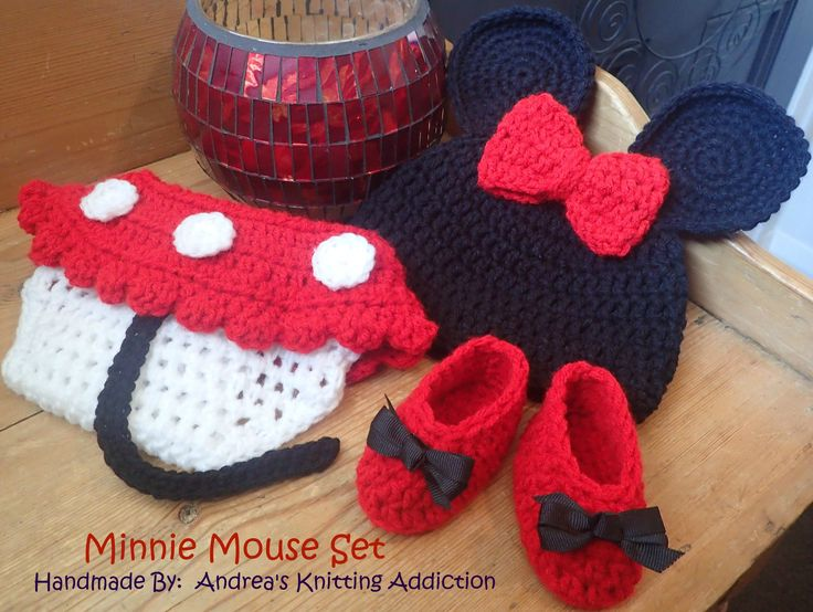 Newborn baby girl Minnie Mouse 3 piece set