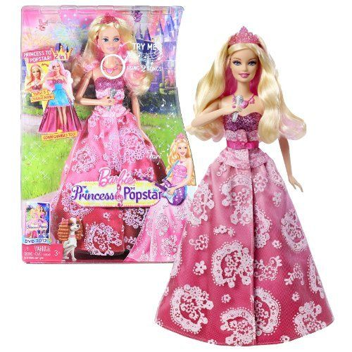 """Mattel Year 2011 Barbie DVD Series """"The Princess and The Popstar"""" 2 in 1 Electronic 12 Inch Doll - Popstar to Princess TORI with Twist to Change Hair Color Feature, Dress Transformations and Tap Necklace to """"Sing"""" 2 Songs Feature by Mattel. $34.99. Mattel Year 2011 Barbie DVD Series """"The Princess and The Popstar"""" 2 in 1 Electronic 12 Inch Doll - Popstar to Princess TORI with Twist to Change Hair Color Feature, Dress Transformations and Tap Necklace to """"Sing"""" 2 Songs Feature"""