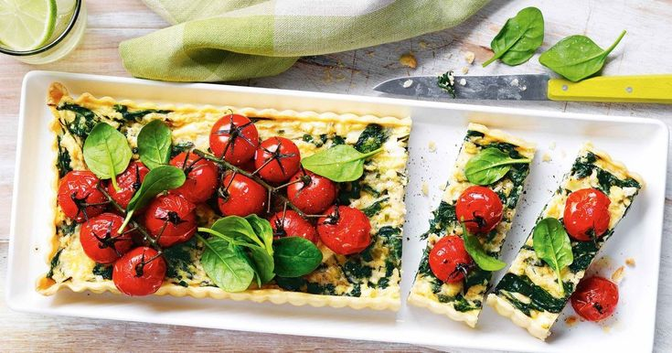Serve up this delicious spinach, fetta and roast tomato tart at your next family brunch.