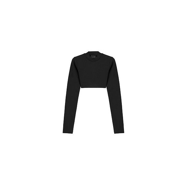 FENTYxPuma by Rihanna Cropped Sweatshirt (318125 PYG) ❤ liked on Polyvore featuring tops, hoodies, sweatshirts, bodycon crop top, cropped sweatshirt, boxy crop tops, jersey sweatshirt and bodycon tops