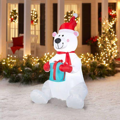 6' Inflatables Polar Bear Airblown Christmas Decoration Outdoor Holiday Decor