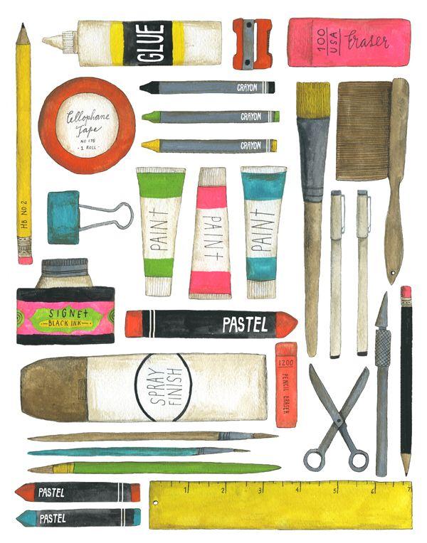 tubukodx:    手書きイラストと、可愛い色使い。  Urban Outfittersなどでも彼女のイラストは使用されてるんだとか。