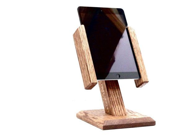 Rotating iPad Stand iPad Mini Stand iPad Dock Tablet by WoodWarmth