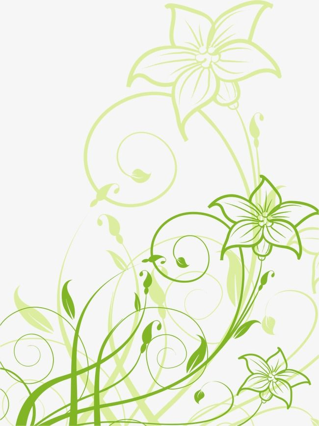 Green Flower Pattern Vector Ai Flowers Png And Vector With Transparent Background For Free Download Green Flowers Flower Patterns Blue Snowflakes