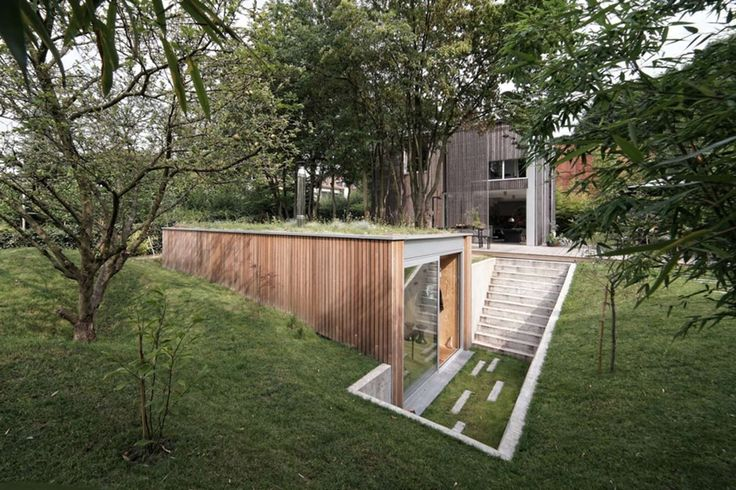 A Small Partially Underground Home In Uccle Belgium