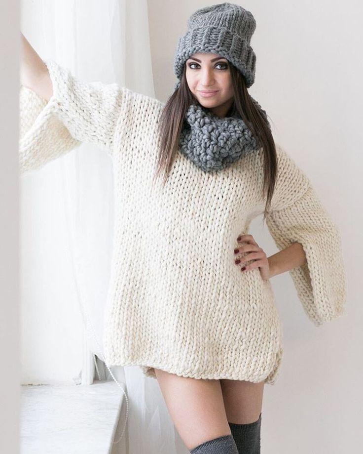Это мания -#WoolandMania  Новые наборы для вязания #шапкаHusky #свитерGossamer…