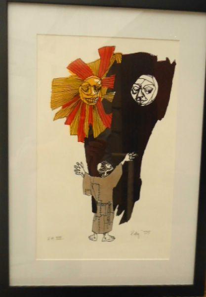 Poty  Serigrafia  Irmão sol, irmã lua  São Francisco de Assis  44 x 32 - emoldurada