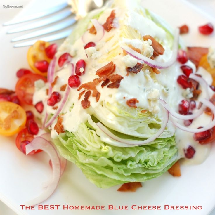 the best roquefort / blue cheese salad dressing for a wedge salad