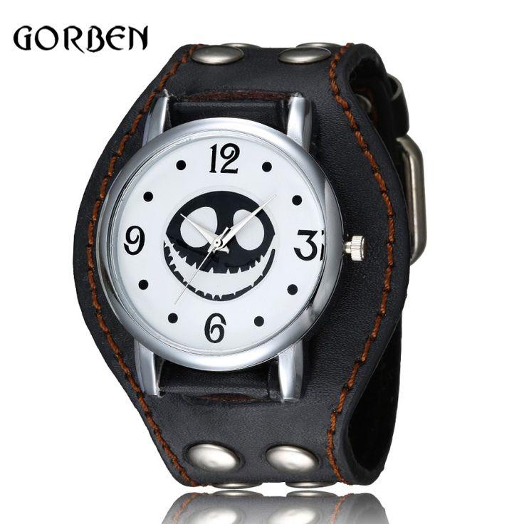 $9.31 (Buy here: https://alitems.com/g/1e8d114494ebda23ff8b16525dc3e8/?i=5&ulp=https%3A%2F%2Fwww.aliexpress.com%2Fitem%2FNew-Black-Cool-Punk-Wrist-Watch-Design-Rivet-Leather-Bracelet-Quartz-Watch-Nightmare-Before-Christmas-Gifts%2F32725332647.html ) Black Cool Punk Wrist Watch Rivet Leather Bracelet Quartz Mens Sports Watch Nightmare Before Christmas Gifts Relogio Masculino for just $9.31