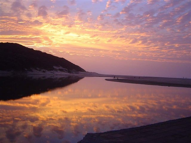 Bonza Bay, East London, Eastern Cape, South Africa. Sunrise
