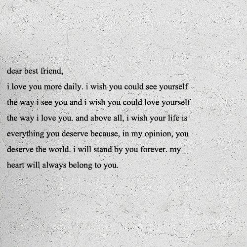 best friend.(:
