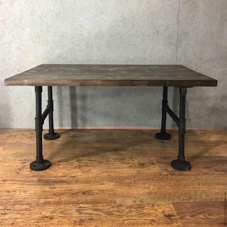 Купить Журнальный стол CONCORD. - коричневый, мебель из труб, журнальный стол, мебель под заказ