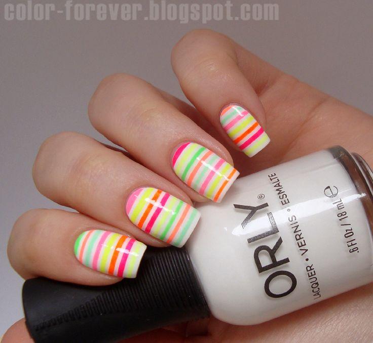 Fabuleux Les 25 meilleures idées de la catégorie Striping tape nail art sur  FM06