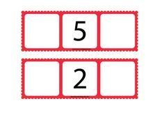 He preparado estos tableros para jugar con el número anterior y posterior. Se pueden imprimir a este tamaño y sería conveniente que se plas...