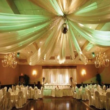 Best 25 reception halls ideas on pinterest decorating for Christmas hall decorations