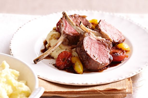Kelly's simple roast lamb racks shine thanks to the fresh, tangy sauce and her creamy mash with a hint of nutmeg.
