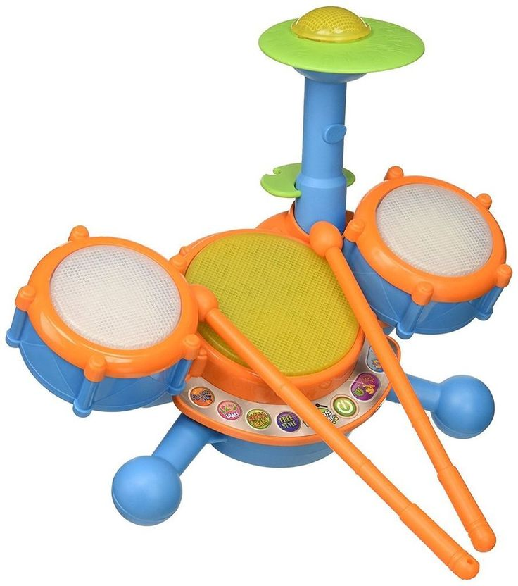 Toddlers Drum Set Beginners Kit Kids Cymbals Musical Instrument Educational