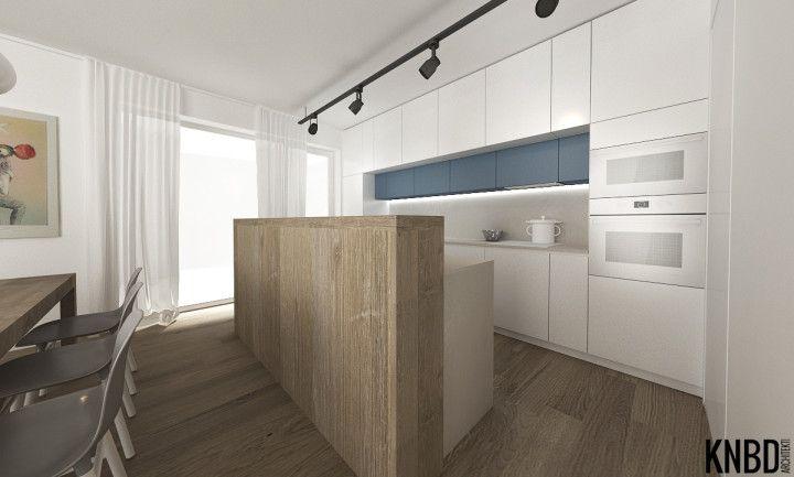 Kuchyňa s korpusom Dub Arlington H3303, bieloakrylátové dvierka - küche ohne griffe