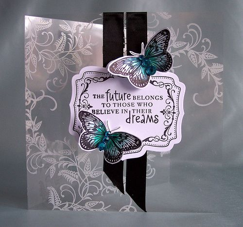 Stamping onto acetate with white stazon - must try this