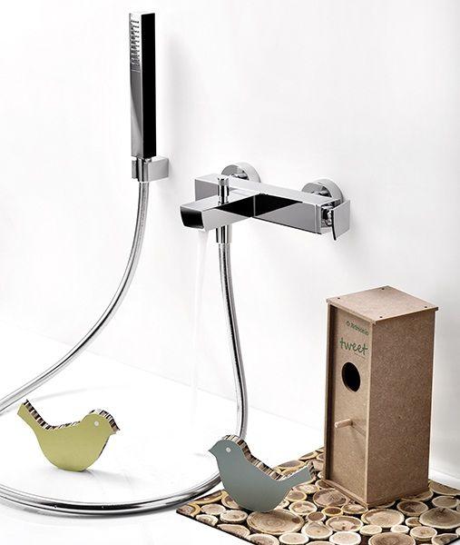 Set De Griferia Baño:Ritmonio – Tweet – Griferia para baños de diseño eco responsable