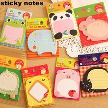 1 unids Post it de dibujos animados animales Sticky Notes Pads lindo de la nota pegatinas de papel Notepad papelería Kawaii Papeleria útiles escolares notas(China (Mainland))