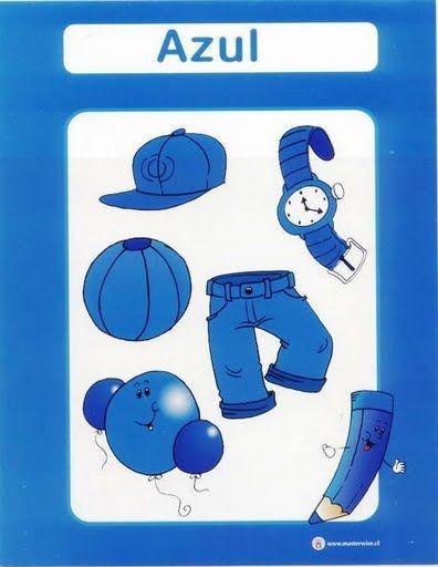 color azul fichas infantiles para aprender los colores imprimir gratis para niños