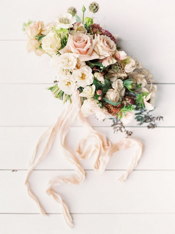 Peach and Ivory Spring Garden Bouquet | As Ever Photography on @heyweddinglady via @aislesociety