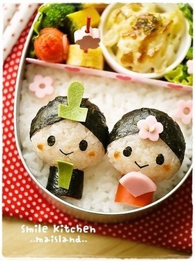 Japan's Himamatsuri Dolls Kyaraben Bento Lunch by Mai Mai
