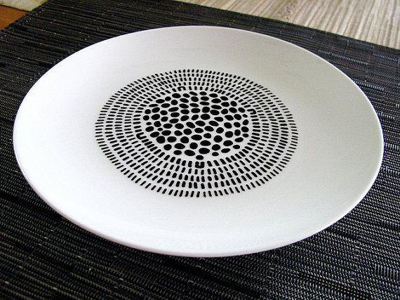seed head 1  handpainted porcelain plate with by theblackbirdsings, £28.00
