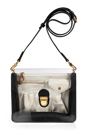 Black Leather/PVC Crossbody Bag by Marc By Marc Jacobs